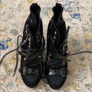 Balenciaga lace up booties!